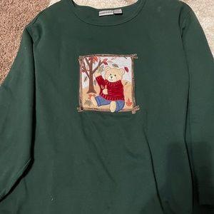Plus size seasonal sweatshirt